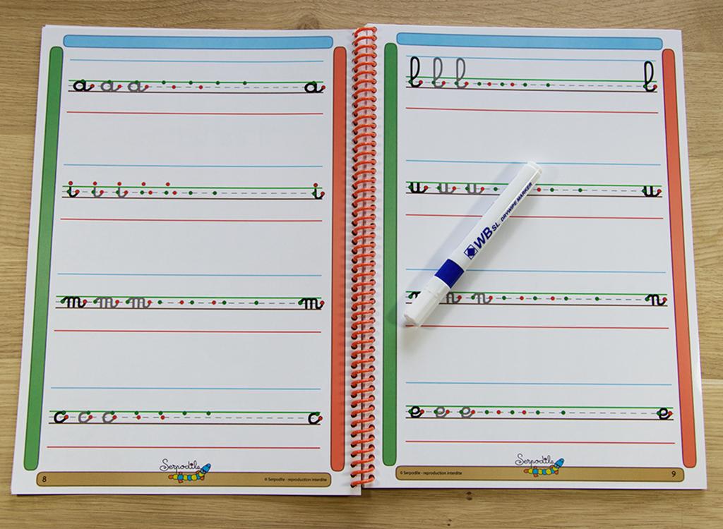 Cahier d'écriture cursive 7 mm