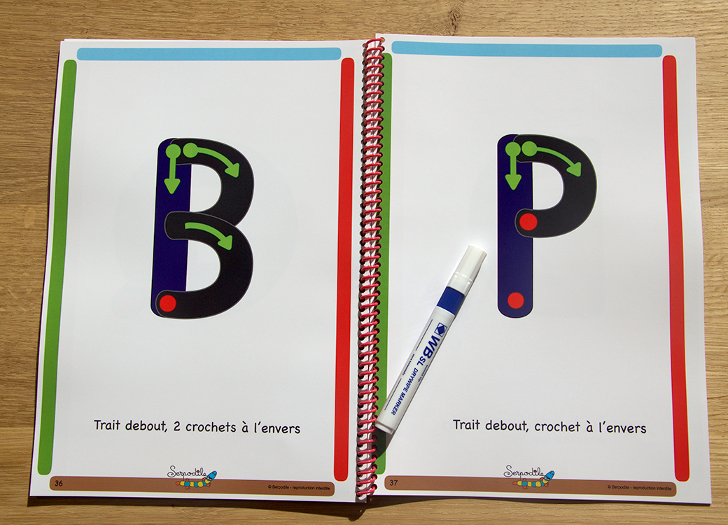 J'apprends à écrire en lettres bâtons