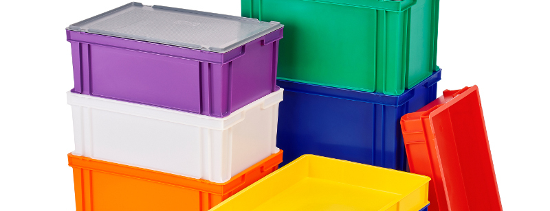 Food grade colour coded trays and containers Klipspringer