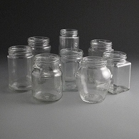 Glass Jam Jars & Honey Jars
