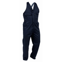 Turu Easy Action Elastic Shoulder Strap Polycotton Zip Overall 270gsm