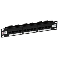 Connectix Elite CAT6  Patch Panel 12 Way 10""