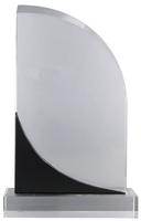 18cm Clear/BK Crystal Plaque (Satin Box)