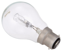 Solus (100W = 77W) BC Clear A55 Halogen E/Saver clip strip