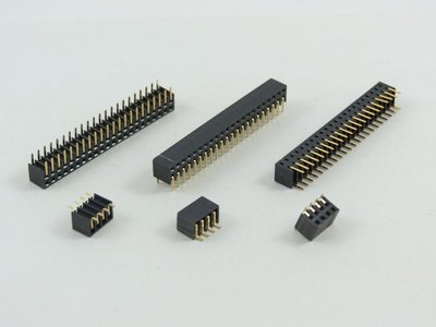 30 position  PCB Socket 2mm Pitch Through Hole Dual Row Side Entry 5mm high