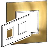Arteor (British Standard) Plate 2x2 Module 2 Gang Sqaure Gold Brass | LV0501.0996