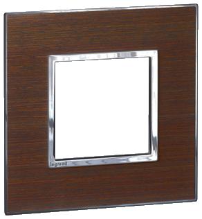 Arteor (British Standard) 1 Gang 2 Module Square Wenge   LV0501.2689