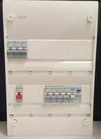 Hager 2 Row Consumer unit with 63A MCB