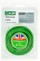 ALM Round Trimmer Line (20m X 2.0mm) For Lightweight Petrol Trimmers - SL003
