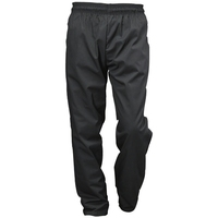 Black Baggie Trousers Polycotton Small - 76cm - 81cm