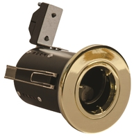 GU10 Brass Fire Rated Downlight Fixed