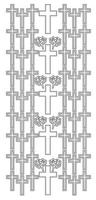 Silver Peel-Off - Cross
