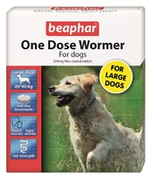 Beaphar One Dose Wormer Large Dog 4 Tablet x 1