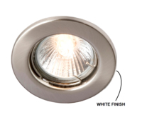 ROBUS SPRING LOADED ENCLOSED GU10/GZ10 DOWNLIGHT - STRAIGHT  WHITE