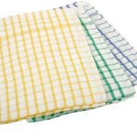 Wilsons No 50 Terry Check Tea Towel 874 Green