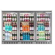 Bottle Cooler 3 Door Stainless Steel 1355x515x895mm