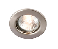 ROBUS SPRING LOADED ENCLOSED GU10/GZ10 DOWNLIGHT - STRAIGHT BRUSHED CHROME