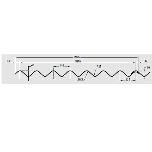 Profile 6 Steel sheet Drawing