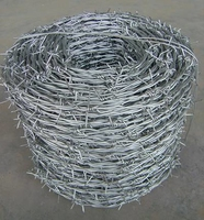 "Galvanised Barbed 1.6mm X 200Mts. 4"" Spacing"