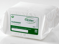 Flushable Dry Patient Wipes