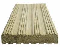 4.2m Grooved & Reeded Reversible Deck Board Ex 32x150mm