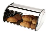 Bread Bin S/S Black Trim 45cm x 19cm