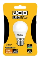 JCB 6W (40W) LED B22 GOLF BALL LAMP WARM WHITE 470 LUMEN