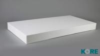 KORE FLOOR PERIMETER EDGE STRIP WHITE 35MM - 1200MM X 300MM SHEET
