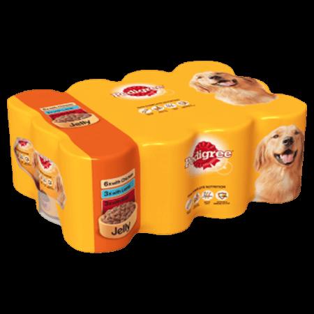 Pedigree Tins Mixed Chunks in Jelly 2x 12 x 385g