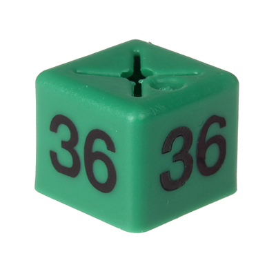 SHOPWORX CUBEX 'Size 36' Size cubes - Green (Pack 50)