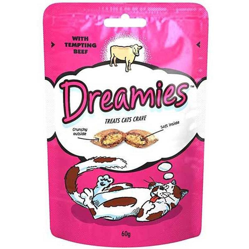 Dreamies Beef Cat Treats 8 x 60g