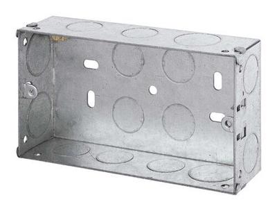 2 Gang 35mm deep Galvanised Steel K.O Box