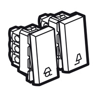 Arteor 2 Way Push For Lights 2 Module Square - Magnesium  | LV0501.2632