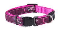 "Rogz Pink Love XL (Armed Response) Adjustable Collar 17""-29"" x 1"