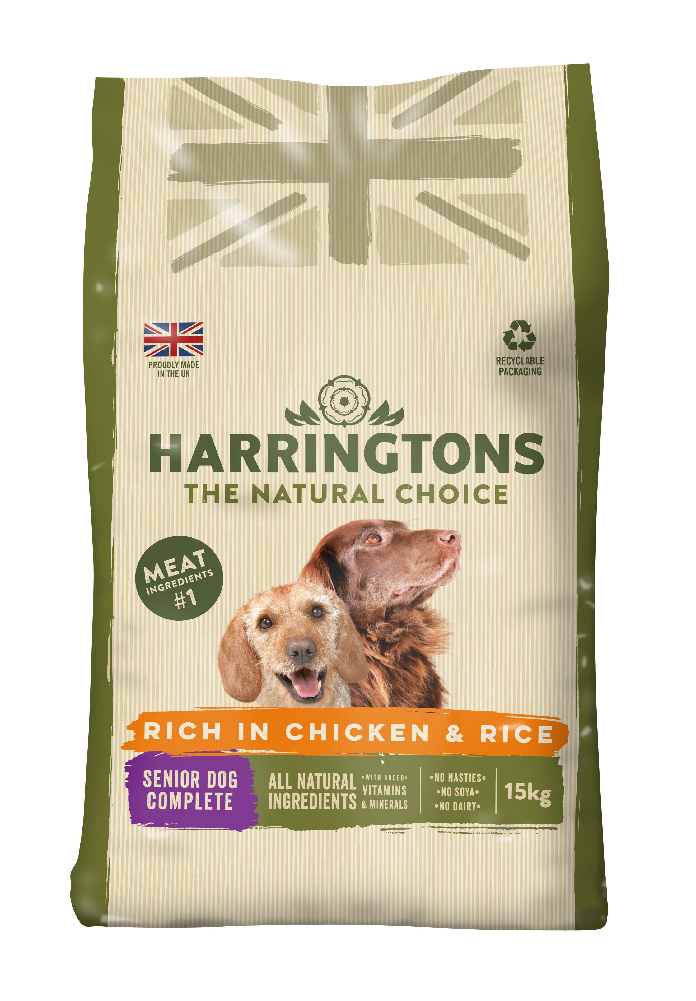 Harringtons Senior Chicken & Rice Dog Food 15kg