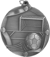60mm Soccer Medallion (Antique Silver)
