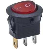 Switch | Rocker Switch Round Mini 120v Lamp Red