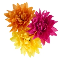 Artificial Flower Spiked Dahlia - Mixed Colours