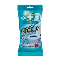 Green Shield Anti-Bacterial Toilet Cleaning Wipes 40pk