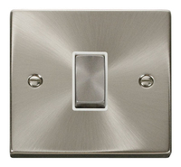 Click Litehouse DECO Inter Ingot Switch White Insert Satin Chrome