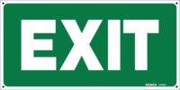 EXIT Sign Green With White Letters