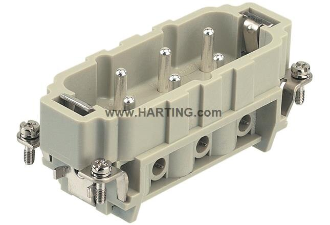 12+ Earth Male Connector Screw Terminal 1-6 Size 32B (Current Rating  400/690V  35A)