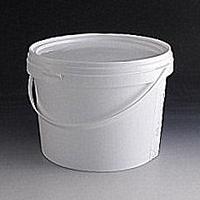 5 Litre White Tamper Evident Plastic Buckets.