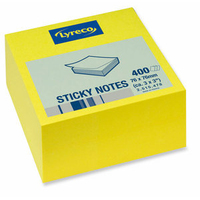 "Sticky Posted  Notes - Yellow 12x100(3""x3"")"
