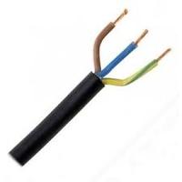 Cable (Meters) 3 Core * 0.755Sq Circular Blac