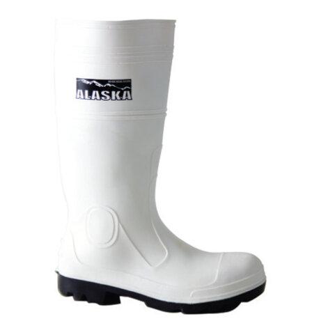Alaska PVC/Nitrile Safety Wellington White S4 SRA