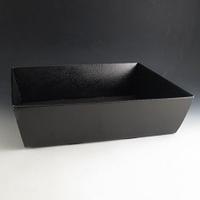Black hamper basket