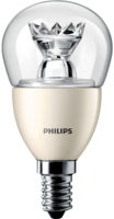 6W-(40W) PHILIPS SES E14 CLEAR GOLFBALL DIM
