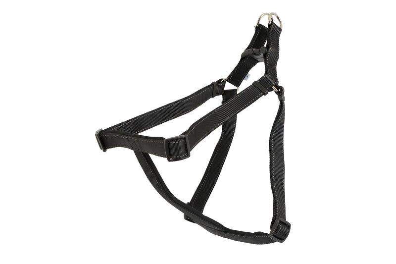 Ancol Black Padded Nylon Dog Harness - X Large