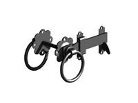 Black Ring Gate Latch PP - 5""